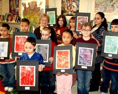 PS 132  Students present tree-inspired artwork